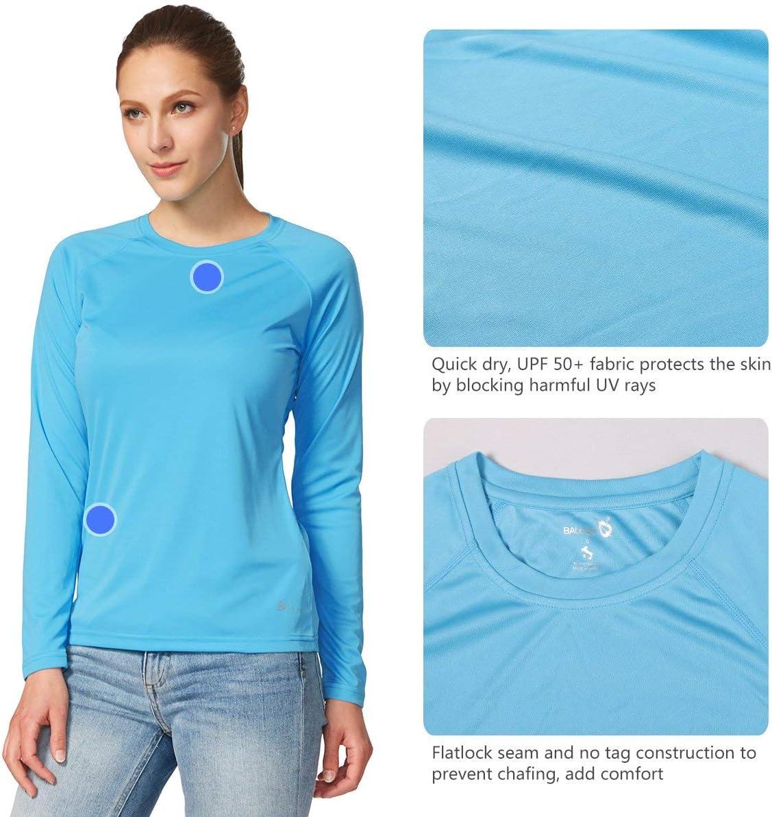 BALEAF Damen UV Shirt UPF Sonnenschutz Kleidung Langarm