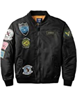 Neo-wows Men's Bomber Jacket with Patches