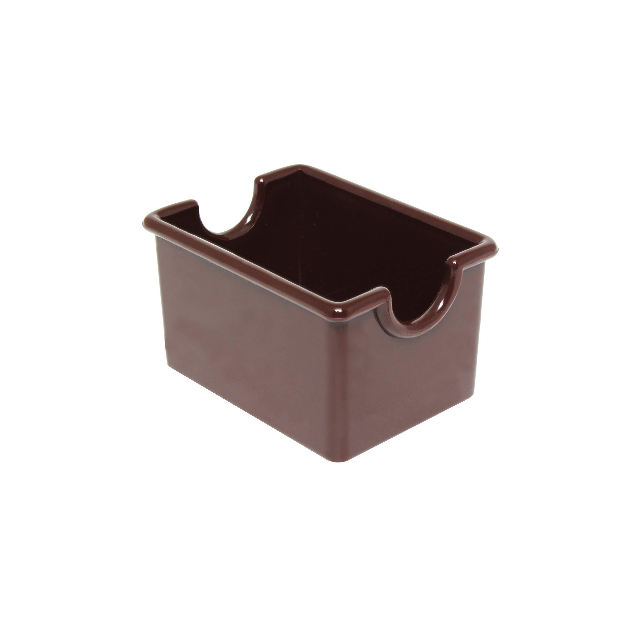 Restaurant Essentials Sugar packet holder, brown, comes in dozen
