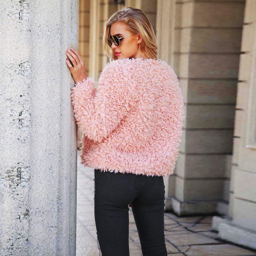 DEATU Womens Short//Hooded Coat Ladies Teen Girls Winter Warm Faux Fur Coat Jacket Parka Outerwear//Sleeveless Vest