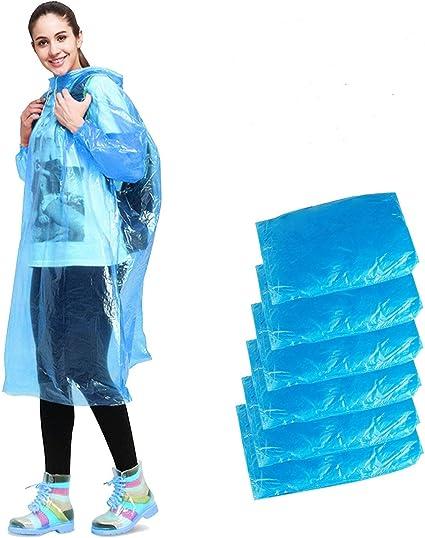 Lot de 8 ponchos de pluie avec capuche Verts transparents