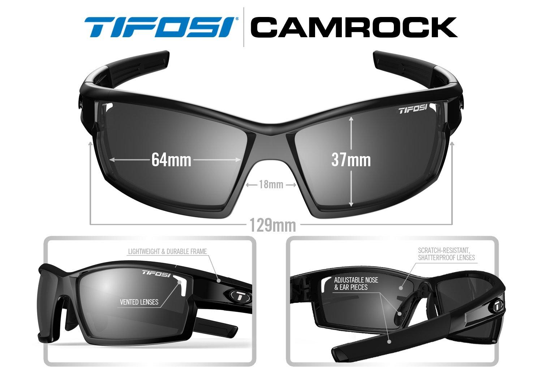 02c2a720503 Amazon.com  Tifosi Golf Camrock Wrap Sunglasses