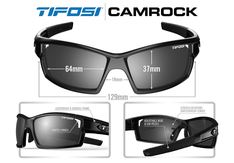 35df52f7a9 Tifosi Gloss Black Camrock Interchangeable Sunglasses  Amazon.co.uk  Sports    Outdoors
