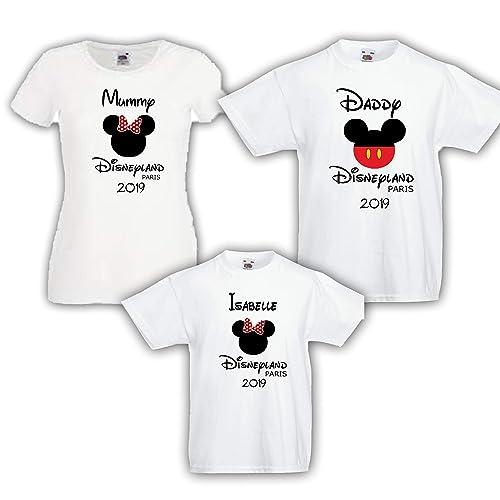 d77cb9706 Disneyland Paris 2019 Personalised Family T shirts Bundles: Amazon ...