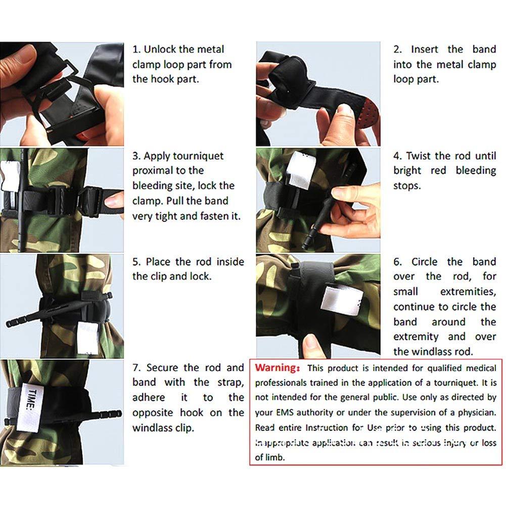 Thursday April Tourniquet Tactical Tourniquet Kampf Military Medical Notfall f/ür Blutverlust Kontrolle Erste-Hilfe-Reaktion Wandern und Notfall Kits