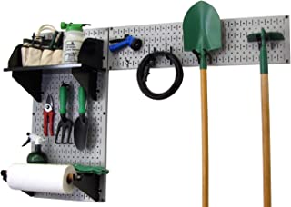 product image for Wall Control Pegboard Garden Supplies Storage and Organization Garden Tool Organizer Kit with Gray Pegboard and Black Accessories