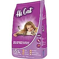 HI CAT Alimento para Gatos de Todas Las Edades 15kg con omegas 3 y 6. Taurina y minerales orgánicos para la Mejor absorción de nutrientes.