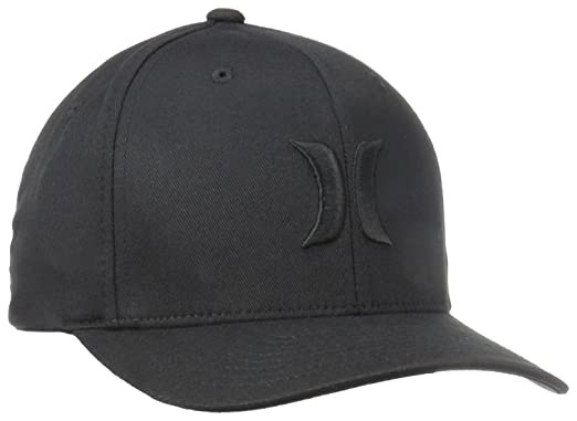 Amazon.com  Hurley Men s One and Only Black White Hat Flex Fit  Clothing 7d65d124b45f