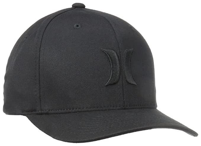 fd8ce1cb144 Amazon.com  Hurley Men s One and Only Black White Hat Flex Fit  Clothing