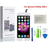 CW iPhone 6 4.7インチ交換修理用フロントパネル(フロントガラスデジタイザ)タッチパネル 液晶パネルセット 修理工具付属(ホワイト)