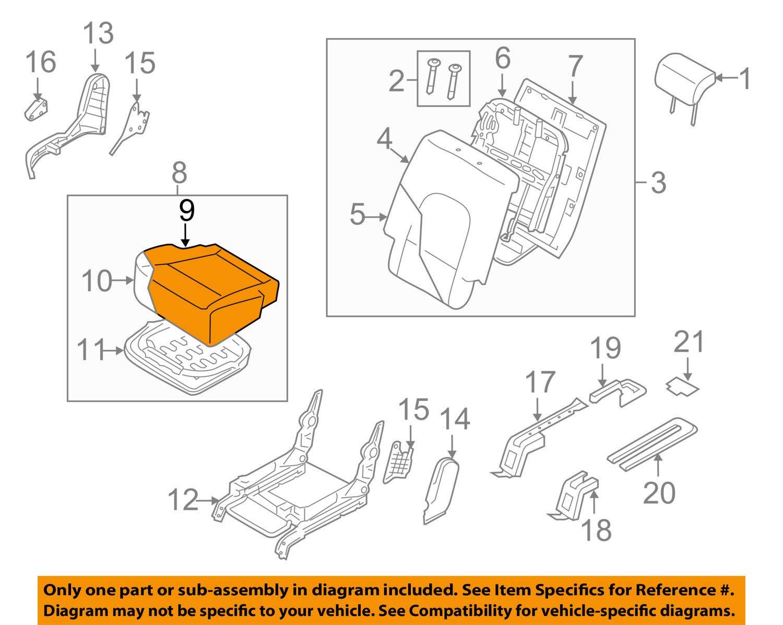 Genuine Hyundai 89260-3J001-V9D Seat Cushion Covering Assembly