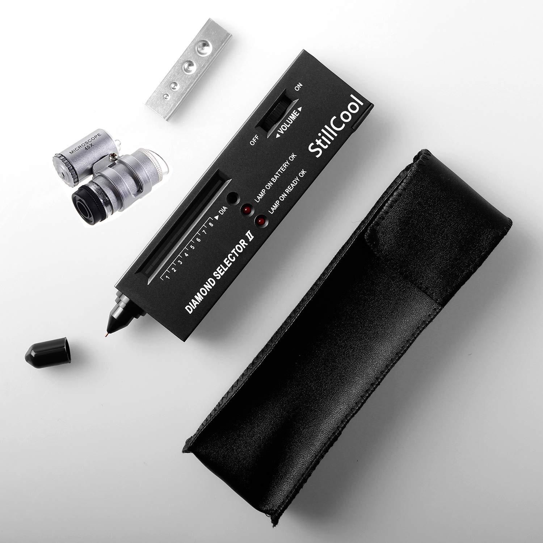 StillCool Jeweler Tool Kit Diamond Tester V2 + 45X Illuminated LED Loupe by