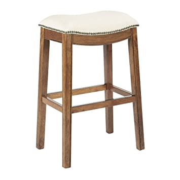 AVE SIX Austin Counterstool with Antique Bronze Nailheads and Kickplate with Mocha Finished Brushed Legs  sc 1 st  Amazon.com & Amazon.com: AVE SIX Austin Counterstool with Antique Bronze ...
