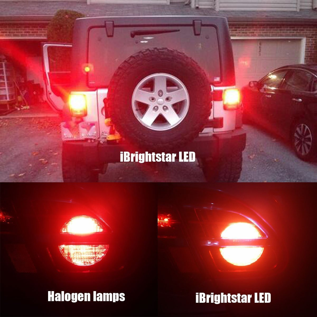 iBrightstar Newest 9-30V Super Bright Low Power Dual Brightness 3156 3157 3056 3057 LED Bulbs with Projector Replacement for Tail Brake Lights,Brilliant Red by iBrightstar (Image #6)