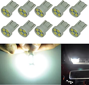 4pc White LED T10 194 912 W5W 2652 5-SMD Wedge License Plate Map Light Bulbs