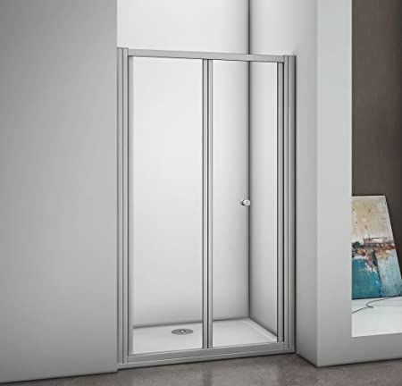 900mm Bifold Shower Enclosure Bath Screen Glass Door Cubicle Amazoncouk Kitchen Home