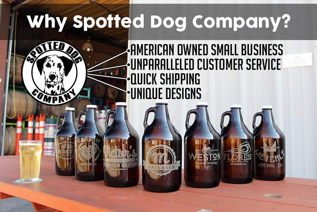 Personalized Etched Monogram Insulated Beer Growler 64oz Keg by Spotted Dog Company (Image #6)