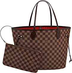 Louis Vuitton Damier Canvas Neverfull MM Red Shoulder Handbag Article   N41358 Made in France 950250009a4
