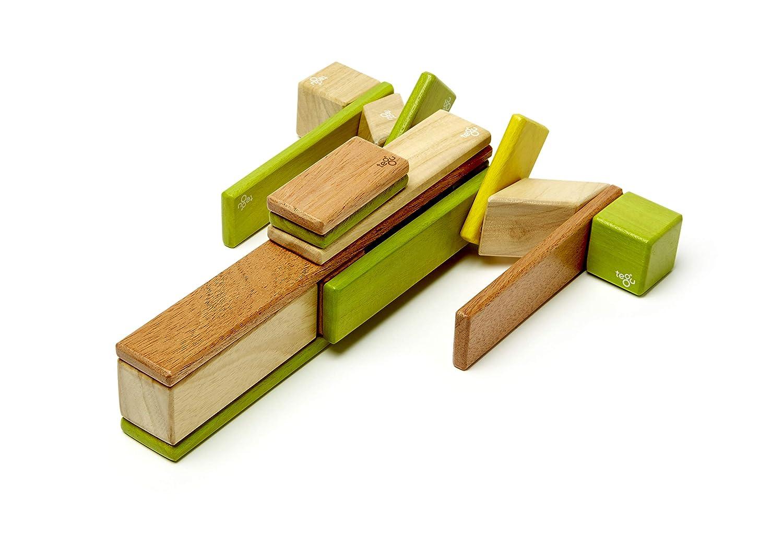 24 Piece Tegu Magnetic Wooden Block Set Sunset