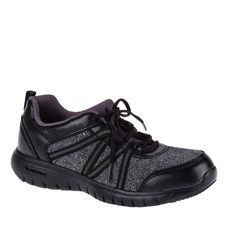 Propet Women's Tami Casual Shoe B015WQRVM6 6 4E US|Black, Silver