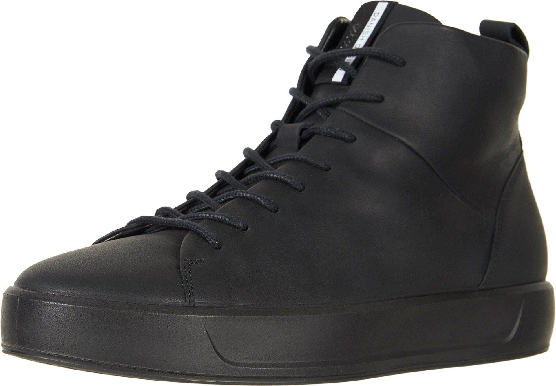 ECCO Men's Soft 8 High Top Fashion Sneaker, Black/Black, 44 M EU/10-10.5 D(M) US by ECCO