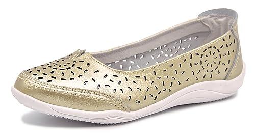 489c197322 Knixmax Bailarinas para Mujer, Zapatillas de Ballet de Piel Mocasines  Transpirables Zapatillas Plano Zapatos Cómodos