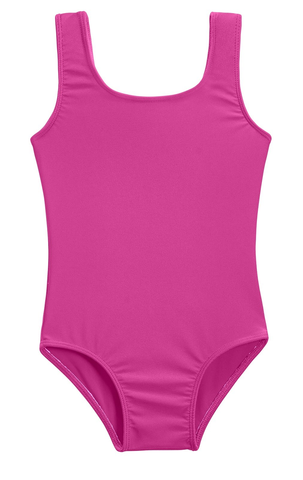 City Threads Girls' One Piece Swimming Suit with Sun Protection SPF for Beach Pool or Play Swim Suit Rash Guard Bottoms Briefs, Hot Pink, 2T