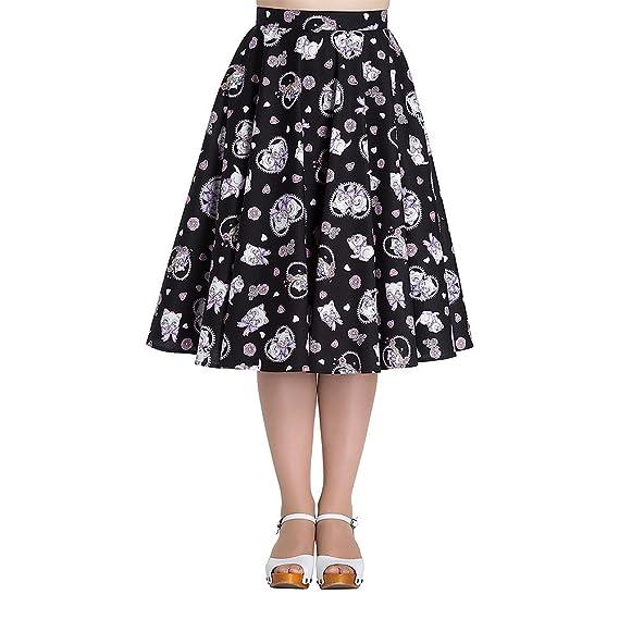 Daisy Gingham Plus Size Circle Sunshine Skirt Cotton Vintage 18 20 22 Hell bunny