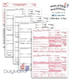 Complete Laser 1099 Misc Tax Form set And 1096