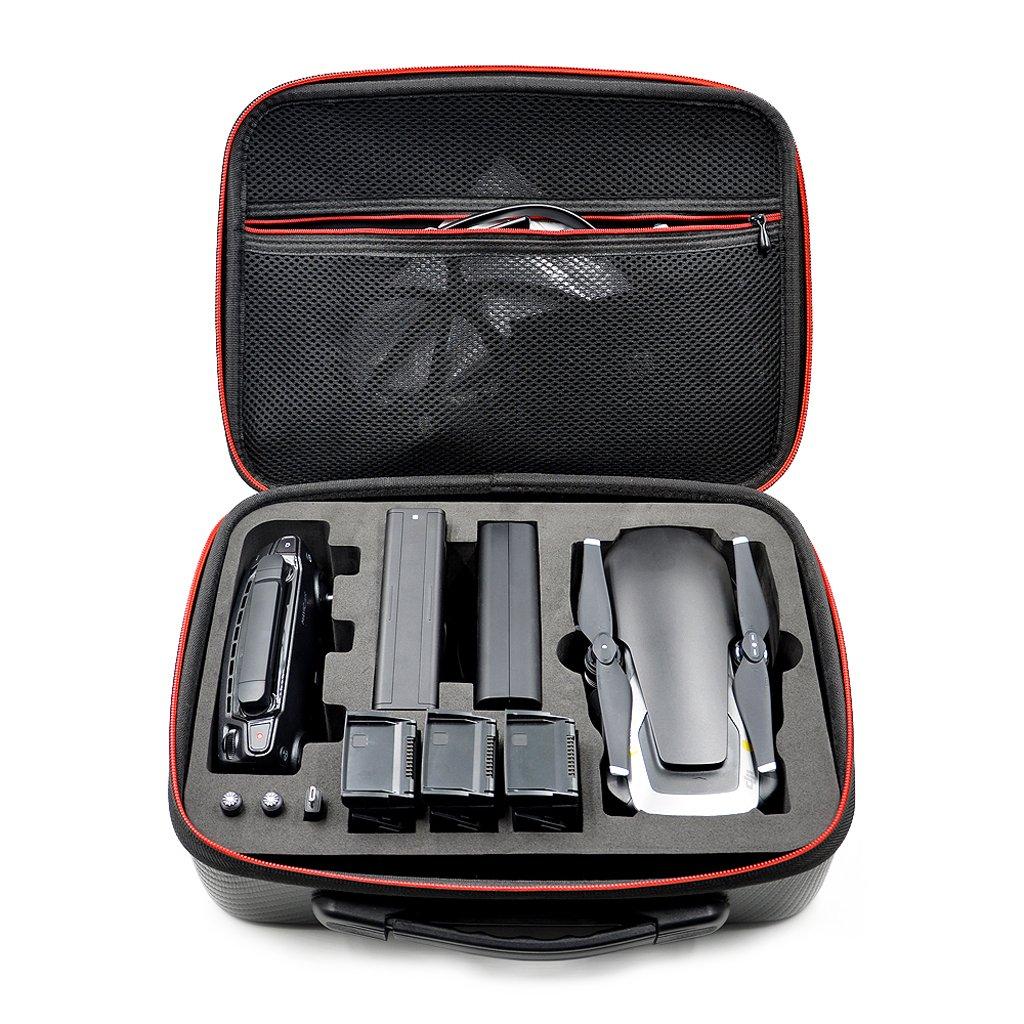 LyGuy EVA Storage Case Sac à Main pour contrôleur DJI Mavic Air Drone Body 3 Batteries Mallette de Transport