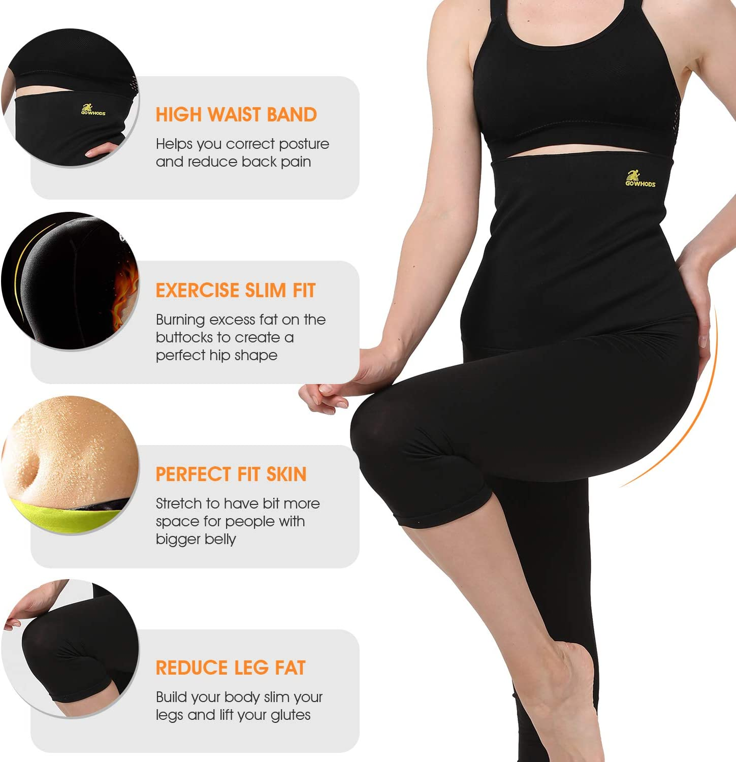 Amazon.com: Gowhods Hot Body Shaper para el vientre ...