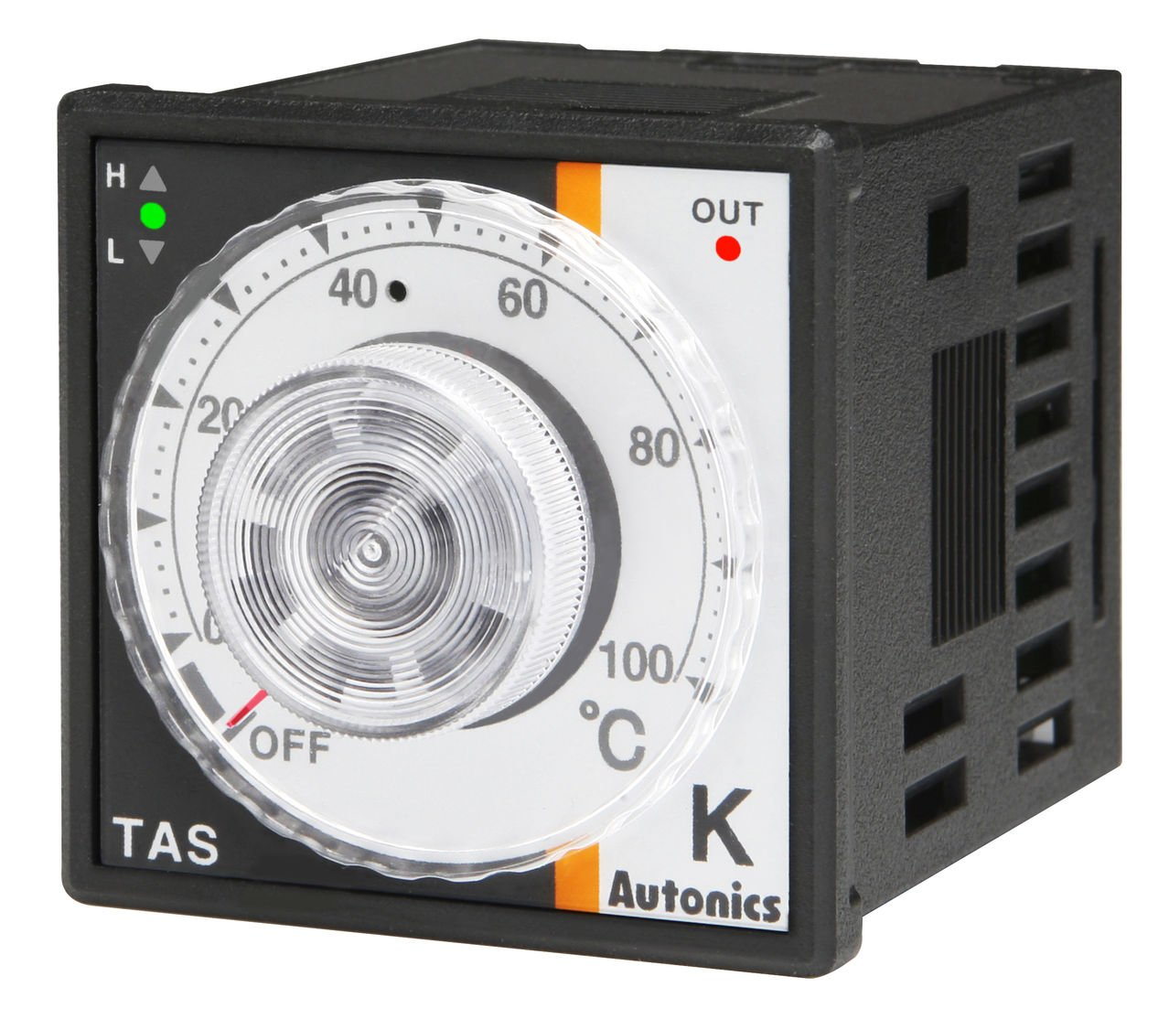 Autonics TAS-B4RJ4F Temp Control, 1/16 DIN, Analog, PID Control, Relay Output, J Thermocouple, 32 to 752 F, 100-240 VAC by Autonics USA, Inc