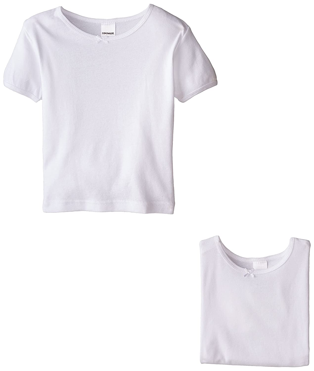 Danawear Little Girls' White 3 Pack Girls Undershirt 4T Danawear Girls 2-6x 7884130A010004T