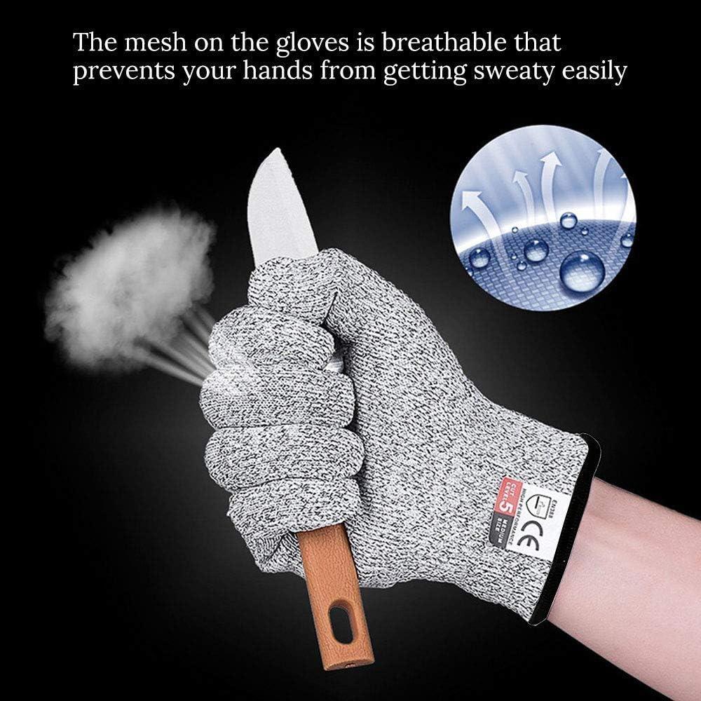 Leistungsf/ähiger Level 5 Schutz 4-7 J/ährige XXS Sinwind Schnittsichere Handschuhe f/ür Kinder lebensmittelecht