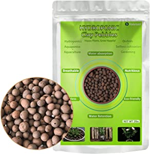Halatool 2 LBS Organic Clay Pebbles- 4mm-16mm 100% Natural Expanded Clay Pebbles for Hydroponic Gardening, Orchids, Drainage, Decoration, Aquaponics