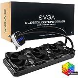 EVGA CLC 360mm All-in-one RGB LED CPU Liquid Cooler, 3X FX12 120mm PWM Fans, Intel, AMD, 5 Yr Warranty, 400-Hy-CL36-V1