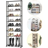 10-Tier Shoe Rack Sturdy Shoe Organizer Stackable Shoe Rack Storage 30 Pairs for Closet Entryway Dormitory, Easy to…