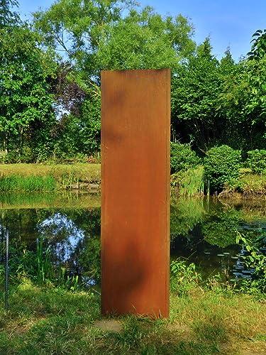Gartenwand Sichtschutz Blanko Rost Stahl 54x195 Cm Amazon De Handmade