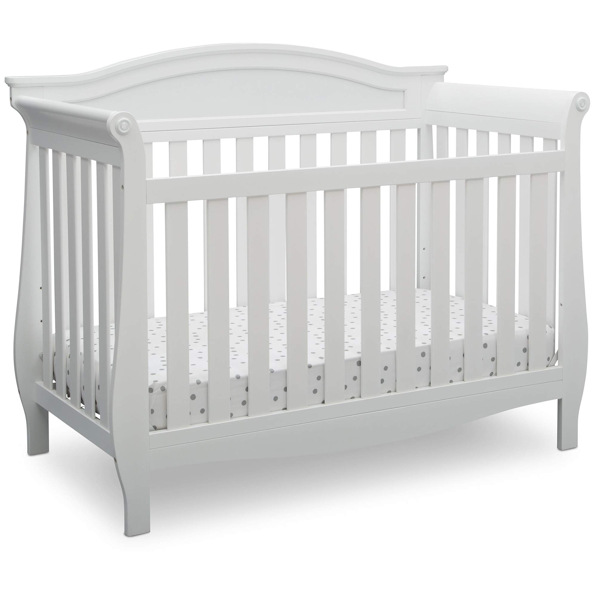 Delta Children Lancaster 4-in-1 Convertible Baby Crib, Bianca White by Delta Children
