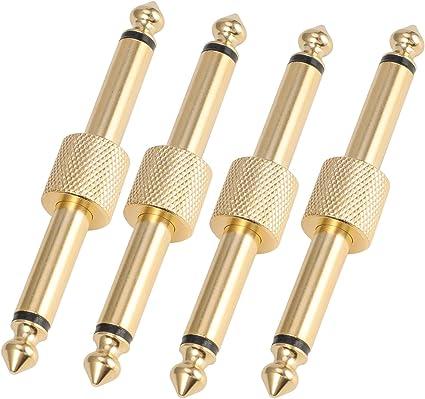 Guitar Effect Pedal Coupler Connector 15CM Length Effect Cable Gold