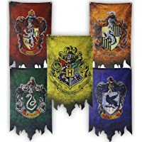 Harry Potter Hogwarts House Banners Wall Flags, Ultra Premium Complete Double Layered Indoor Outdoor Party Flag…