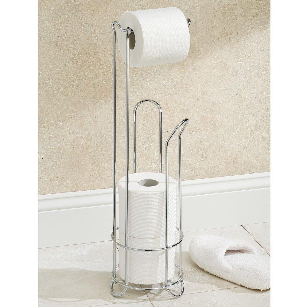 amazoncom interdesign classico  free standing toilet paper  - amazoncom interdesign classico  free standing toilet paper holder forbathroom storage  chrome   x  inches home  kitchen