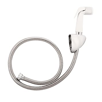 Kohler Basic Chrome Polished Health Faucet with Metal Hose and Holder (Silver)
