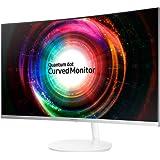 Samsung LC32H711QEUXEN 32-Inch WQHD 2560 x 1440 3 Side Bezel-Less Curved Monitor - Metallic Silver