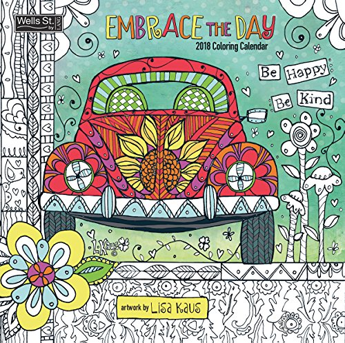 The LANG Companies WSBL Embrace The Day - Coloring 2018 Coloring 12X12 Wall Calendar Office Wall Calendar (18996092002)