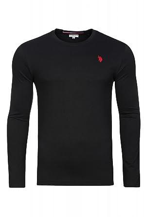 U.S. POLO ASSN. Shirt Negro de manga larga de los hombres 51884 ...