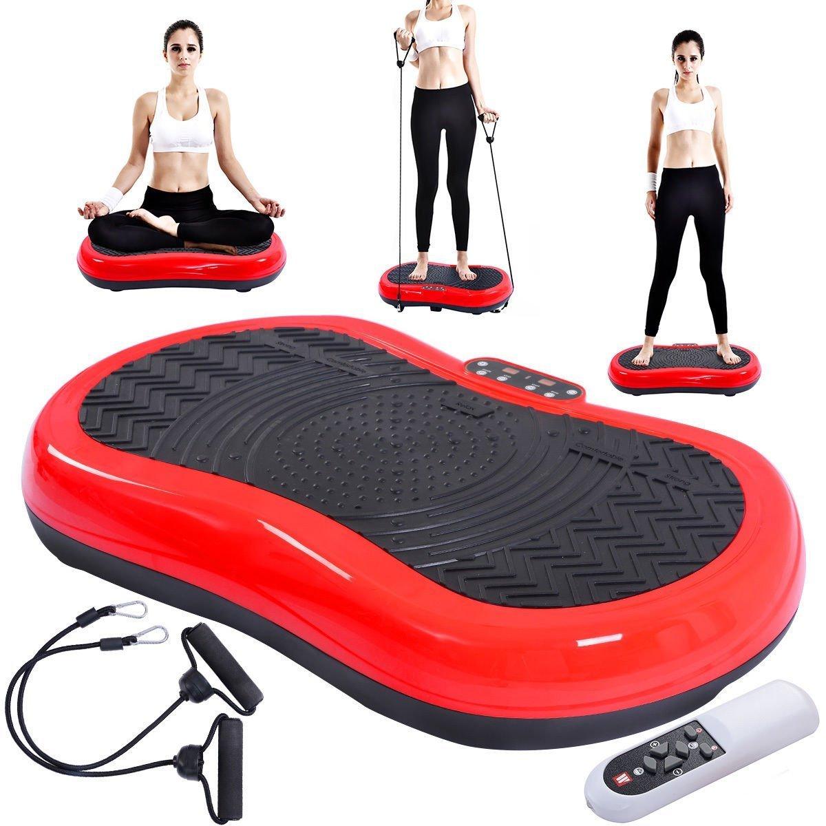 Tangkula Ultrathin Mini Crazy Fit Vibration Platform Massage Machine Fitness Gym (Red) by Tangkula (Image #3)