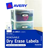 Avery Removable Avery Dry Erase Labels, 1.25 x 3.5-Inches, Pack of 16 (40163)