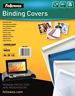 19b30511908 Fellowes Prestige Thermal Binding Coverlight 150 Microns PVC Front 170  g/m² Back Leather Structure