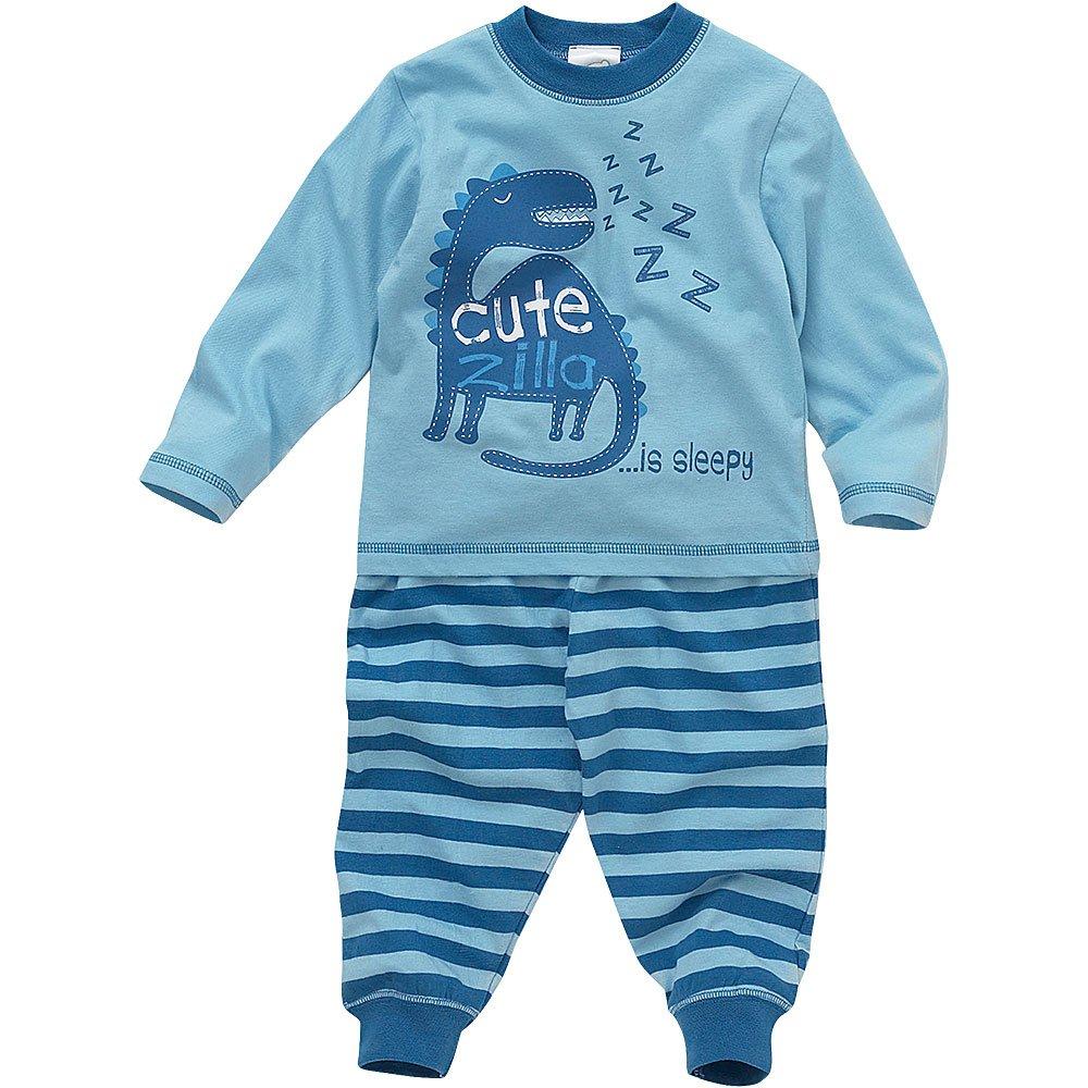 Lullaby Baby Boys Cute Zilla Sleepy Dinosaur Long Striped Pyjamas